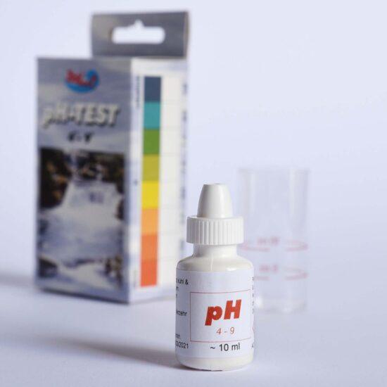 pH Test, Teichwassser Testflüssigkeit